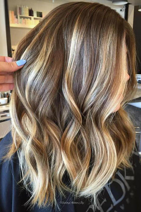 Brunette balayage with highlights