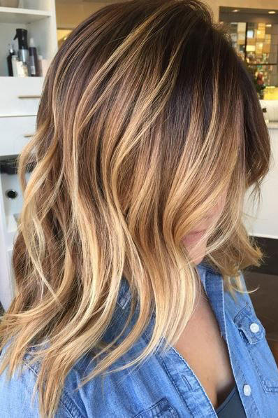 Chestnut Brown Hair with Soft Blonde Ombre
