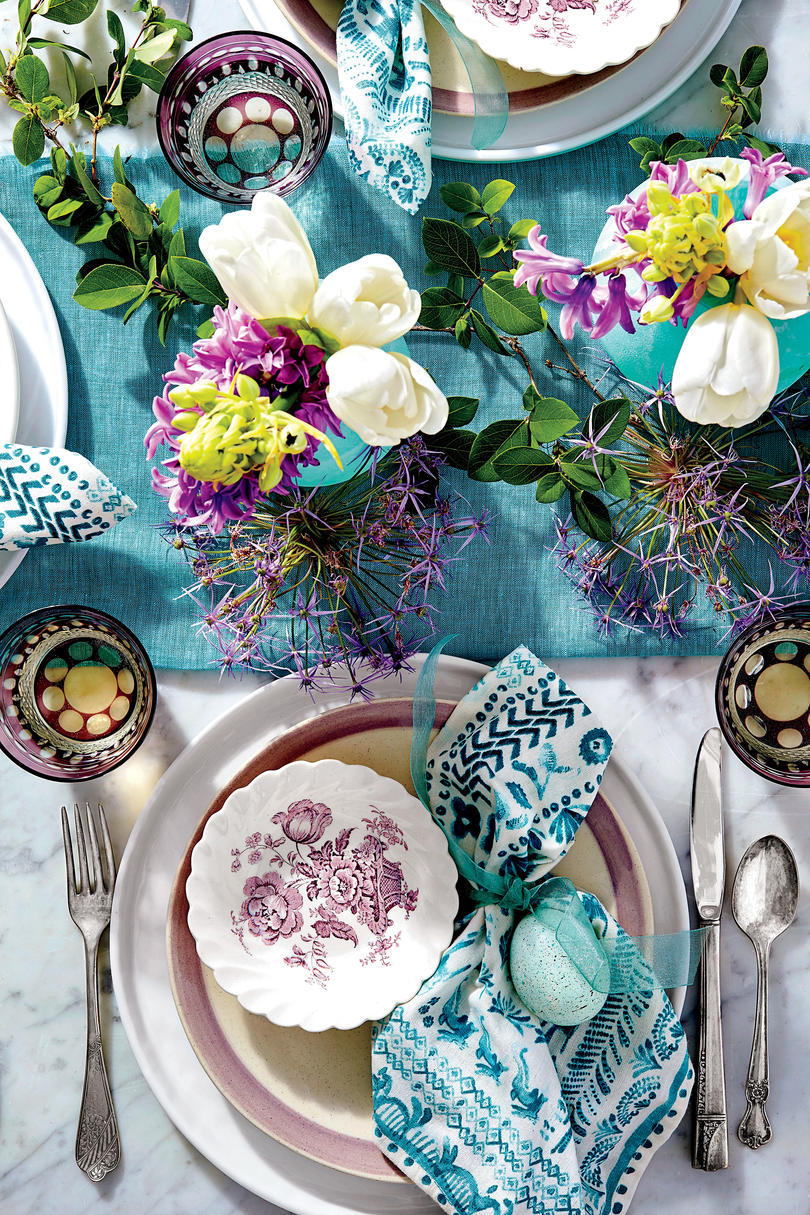 RX_1803_Purple and Teal Place Setting