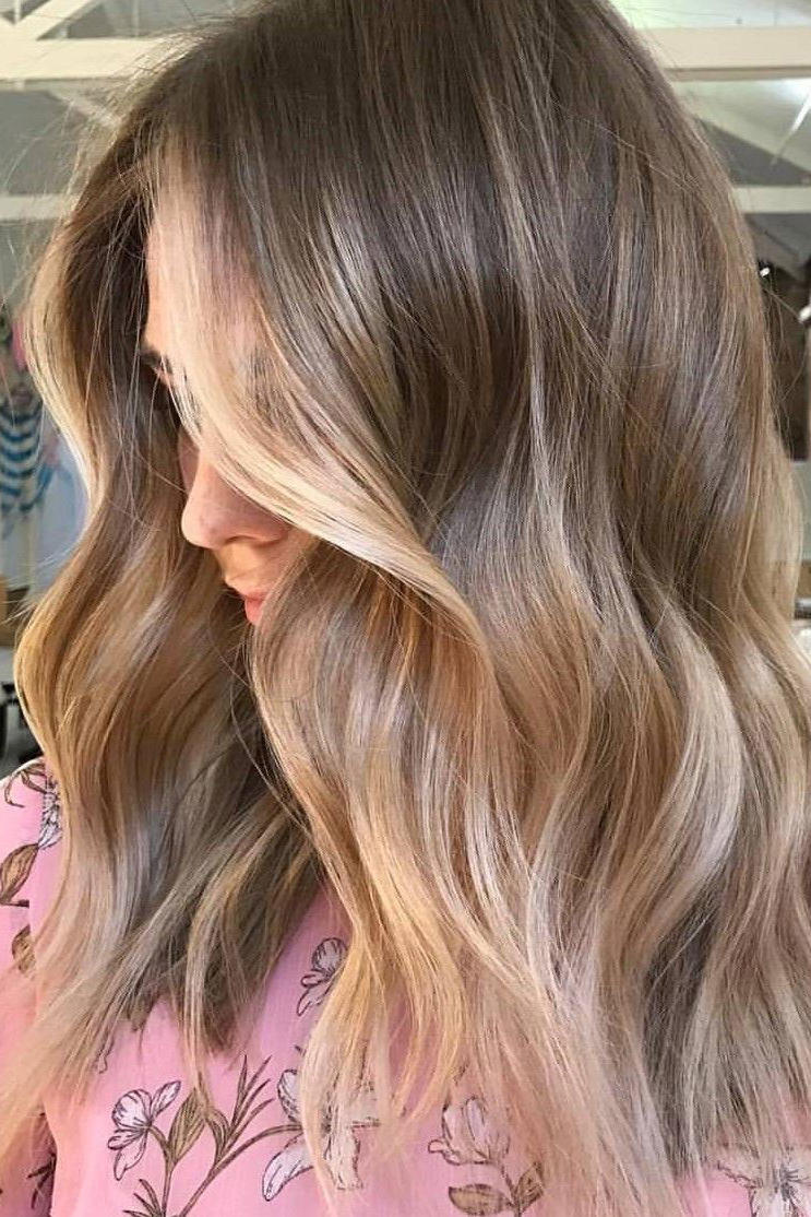 Beige Blonde with Subtle Golden Balayage