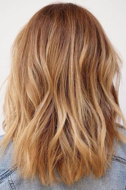 Strawberry Blonde with Light Balayage