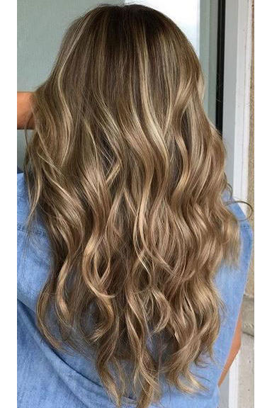 Ashy Brown Hair with Honey Blonde Highlights