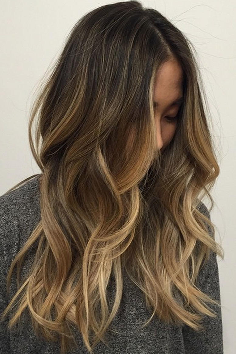 Brown Light hair with blonde ombre highlights new photo