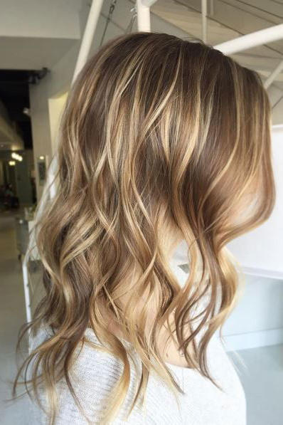 Light Brown Hair with Buttery Blonde Highlights