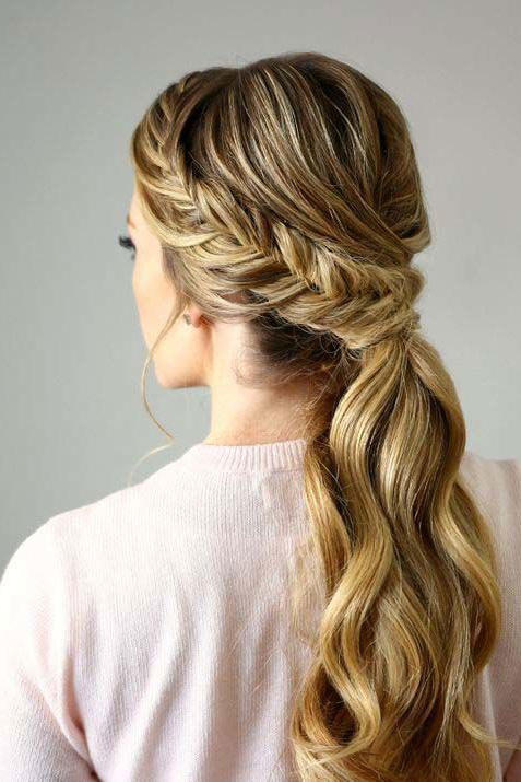Fishtail Low Ponytail