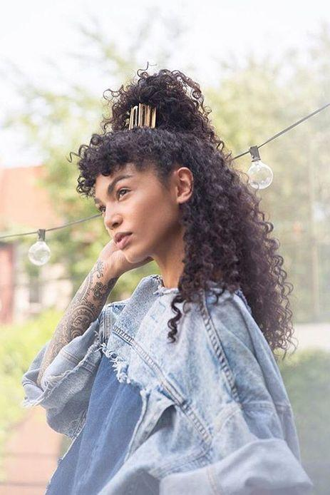 Half-Up High Pony with Statement Accessory