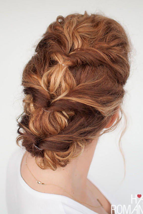 Inside-Out Ponytail Updo