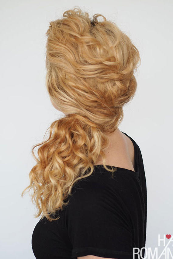 Side-Swept Low Ponytail