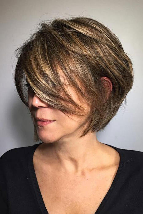 Layered Chin-Length Bob