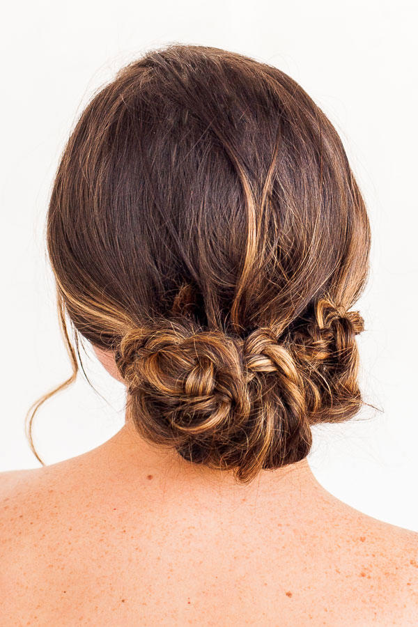 Triple Braided Twist Updo