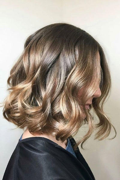 Neutral Brown with Beige Balayage
