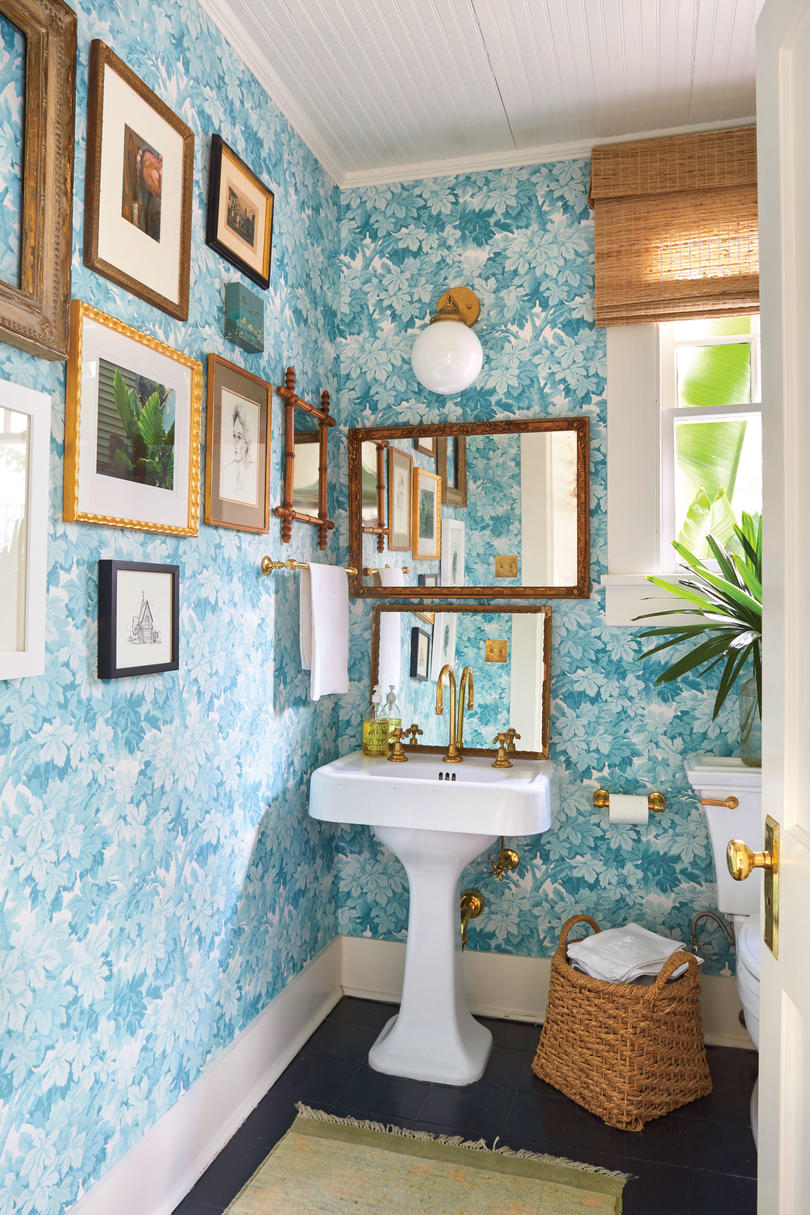Meg Lonergan Houston Craftsman Powder Room