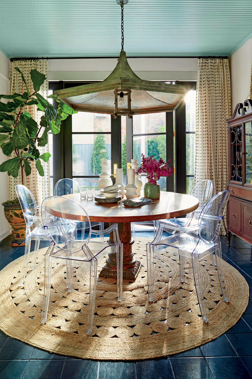 Meg Lonergan Houston Craftsman Breakfast Nook Dining Room