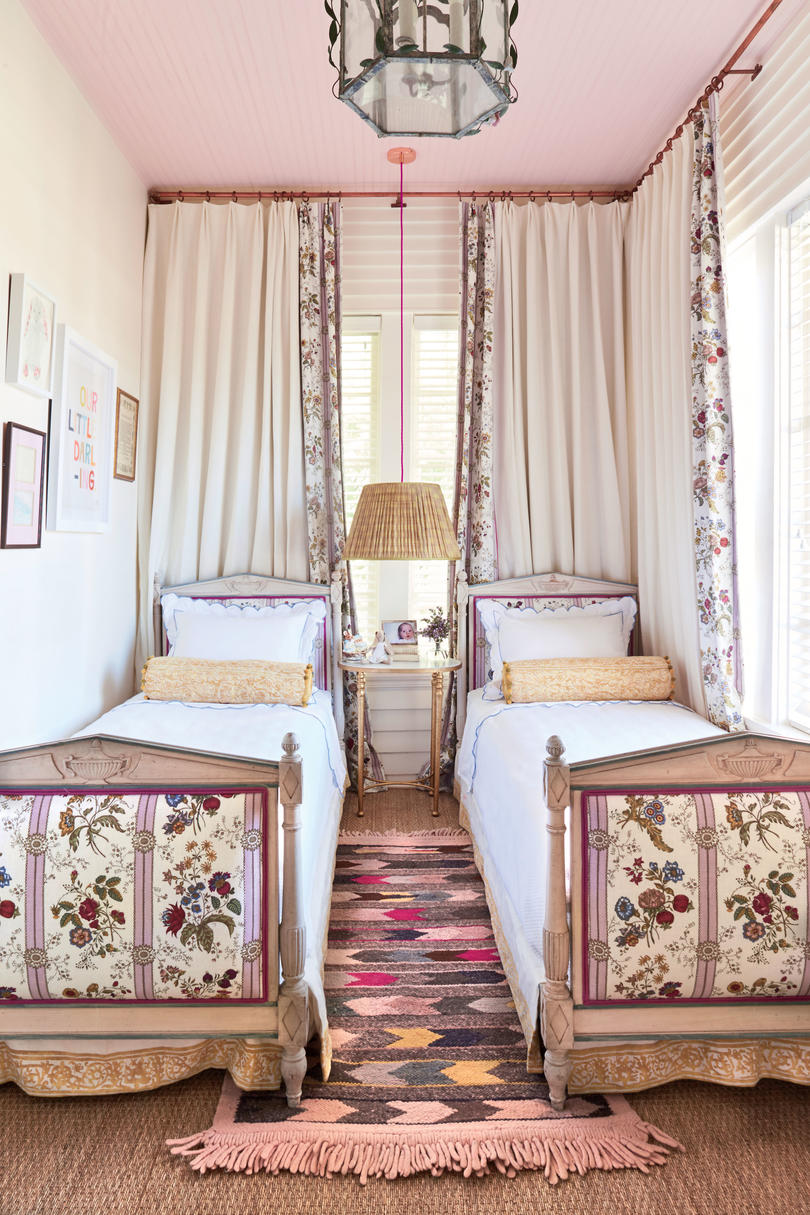Meg Lonergan Houston Craftsman Pink Girls Bedroom