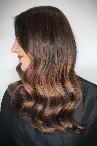 Chocolate Brown with Chestnut Balayage