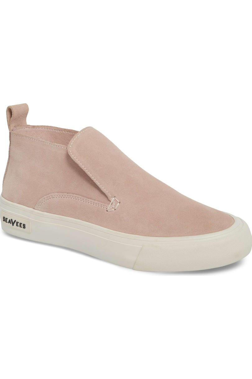 Pink Sneakers: Seavees Huntington Middie Slip-On Sneakers
