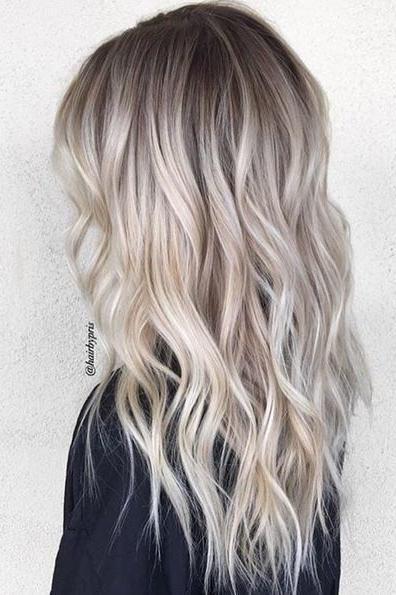 Ash Blonde with Allover Layers