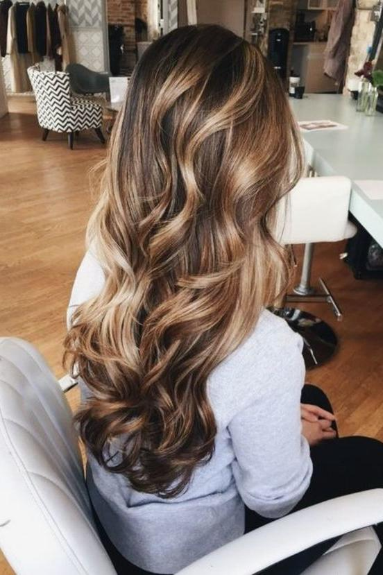 Curly, Golden Brown with Layers