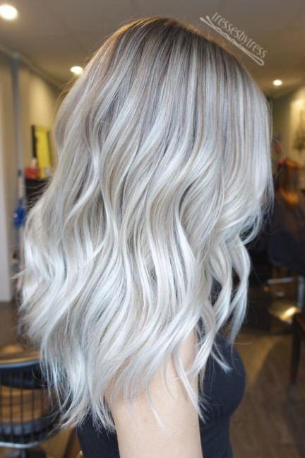 Remarkable, very platinum blonde highlight ombre short hair