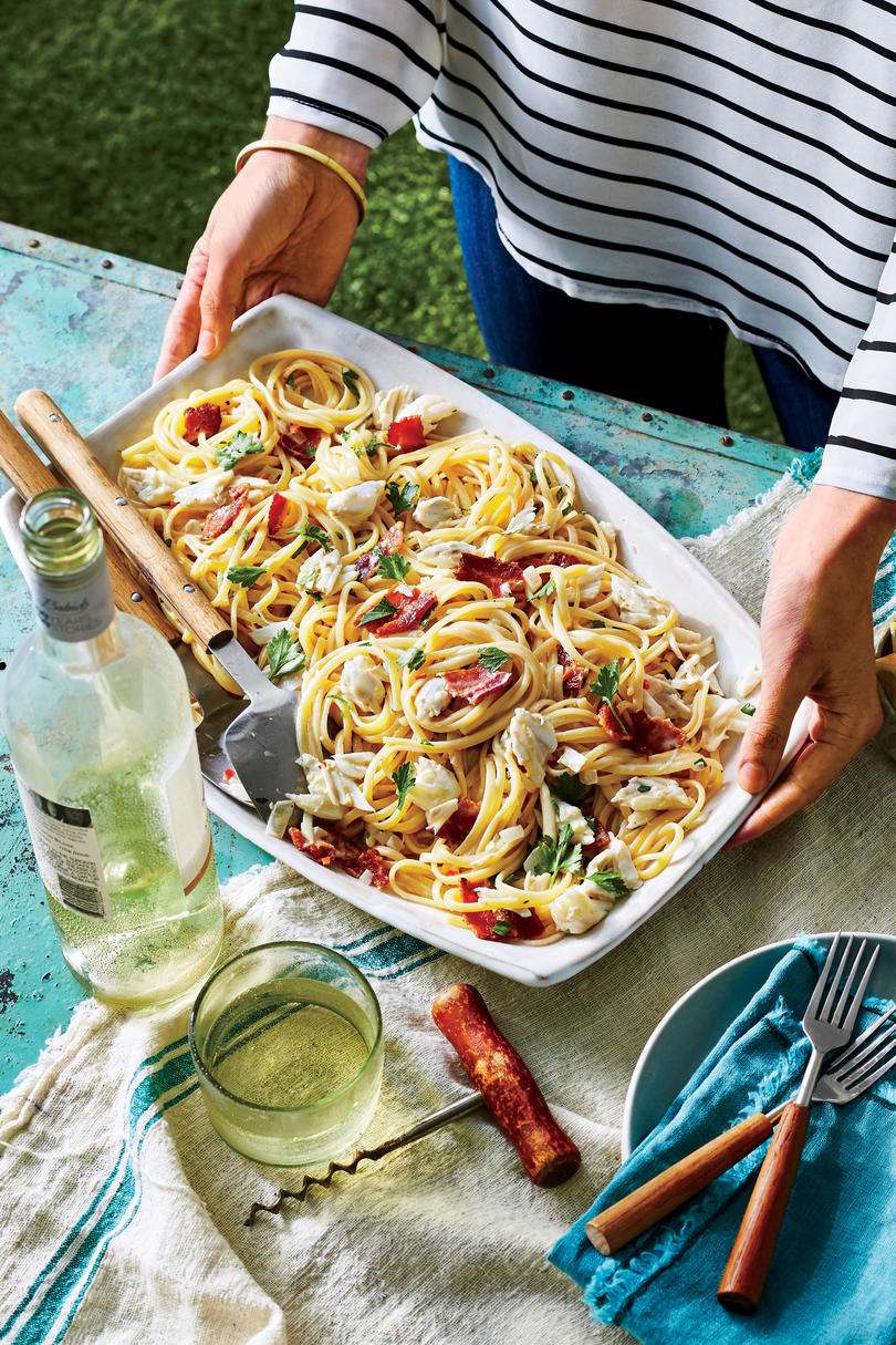 Crab-and-Bacon Linguine
