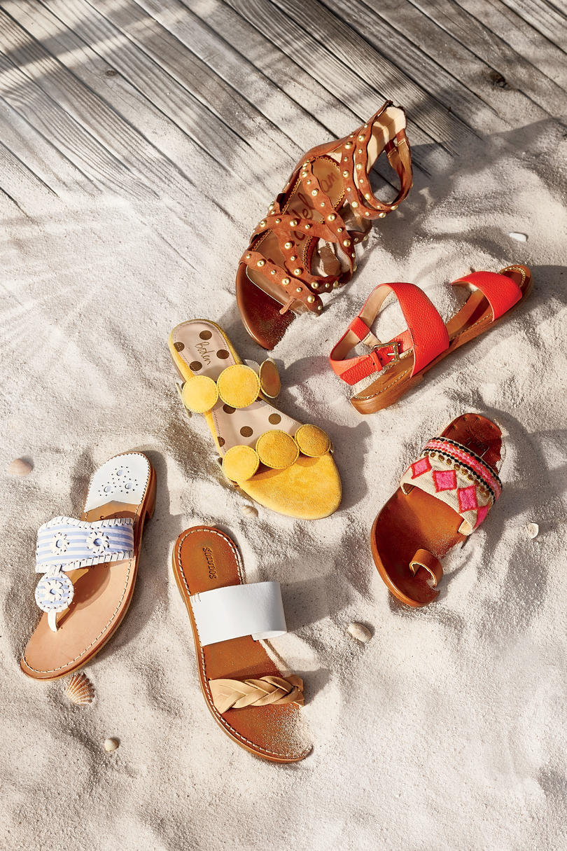 Colorful Flat Sandals for Spring and Summer