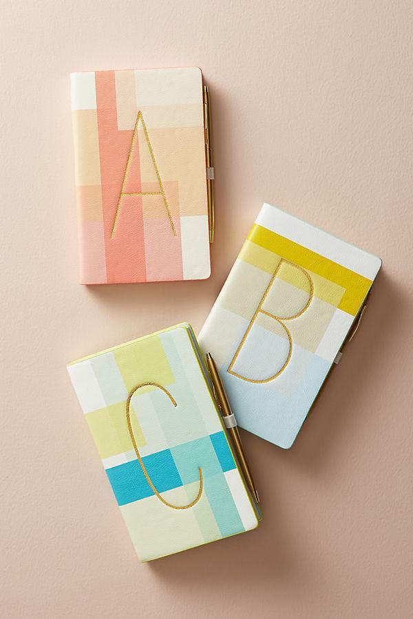 Colorblocked Monogram Journal