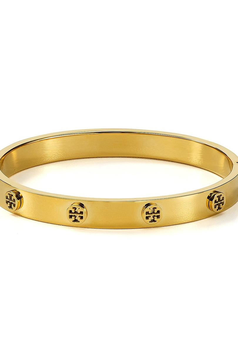 Tory Burch Logo Studded Hinge Bangle