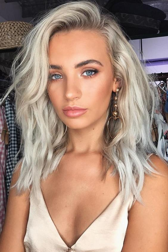 Platinum Blonde with Grey Undertones