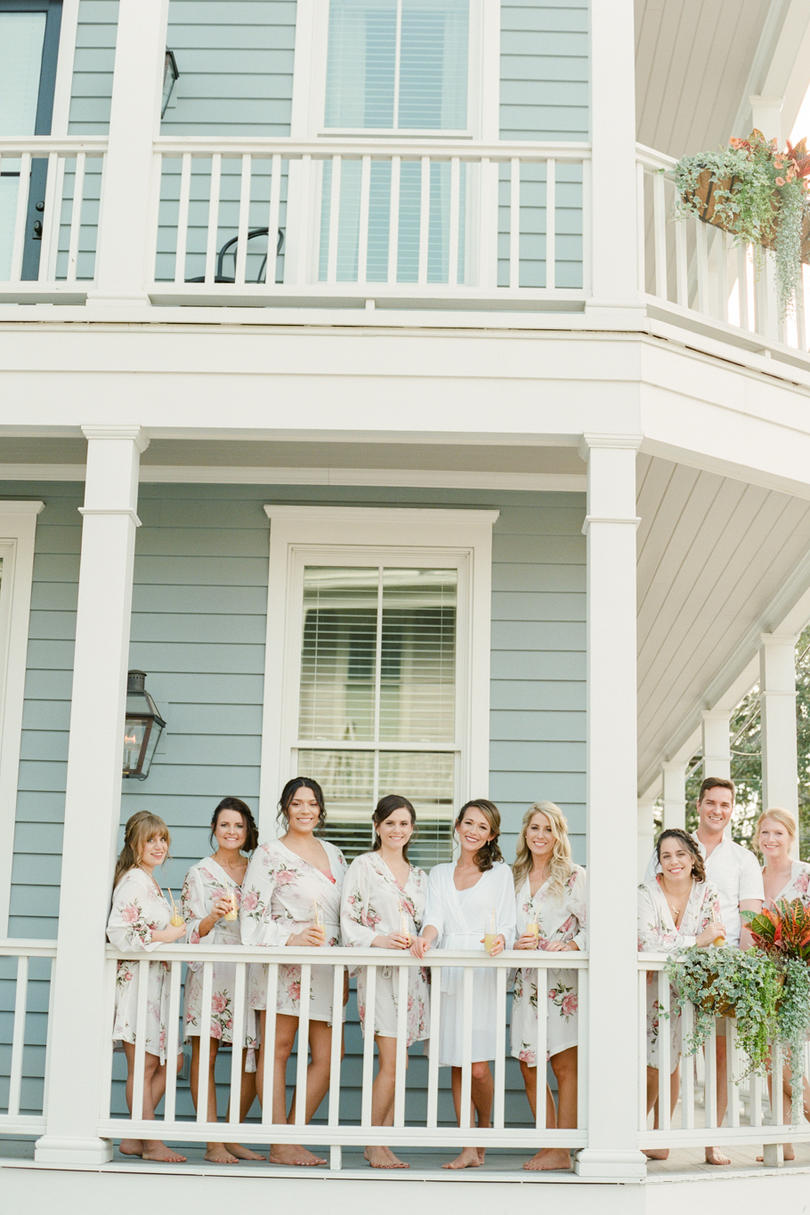 Bridal Party Getting Ready Porch