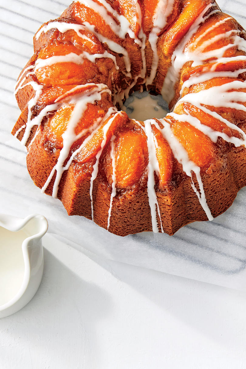 Peach-Bourbon Upside-Down Bundt Cake