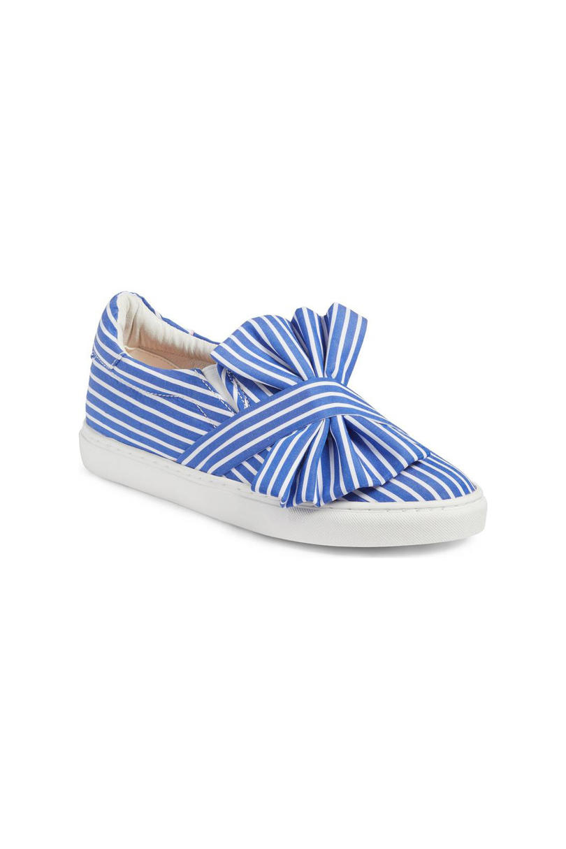 Halogen Mika Slip-On Sneaker in Blue Shirting Fabric