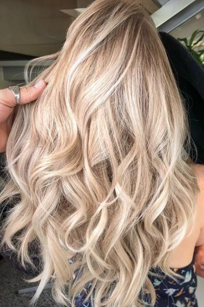 Champagne Blonde With Highlights