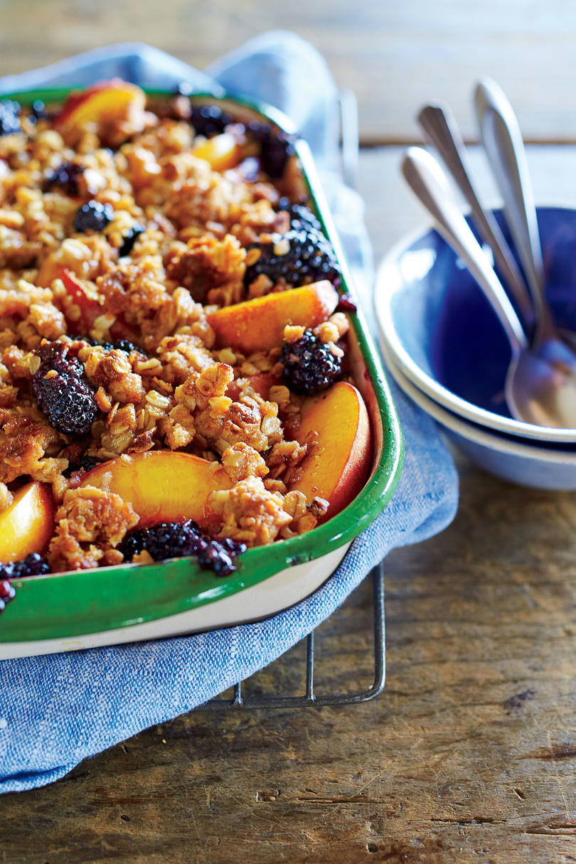 Peach-and-Blackberry Crisp