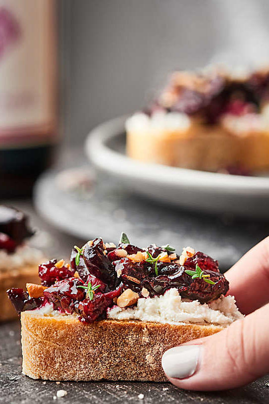 Cherry Bruschetta