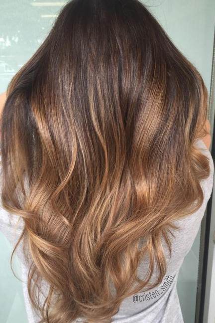 Fashion style Brown Caramel hair color ideas pictures for lady