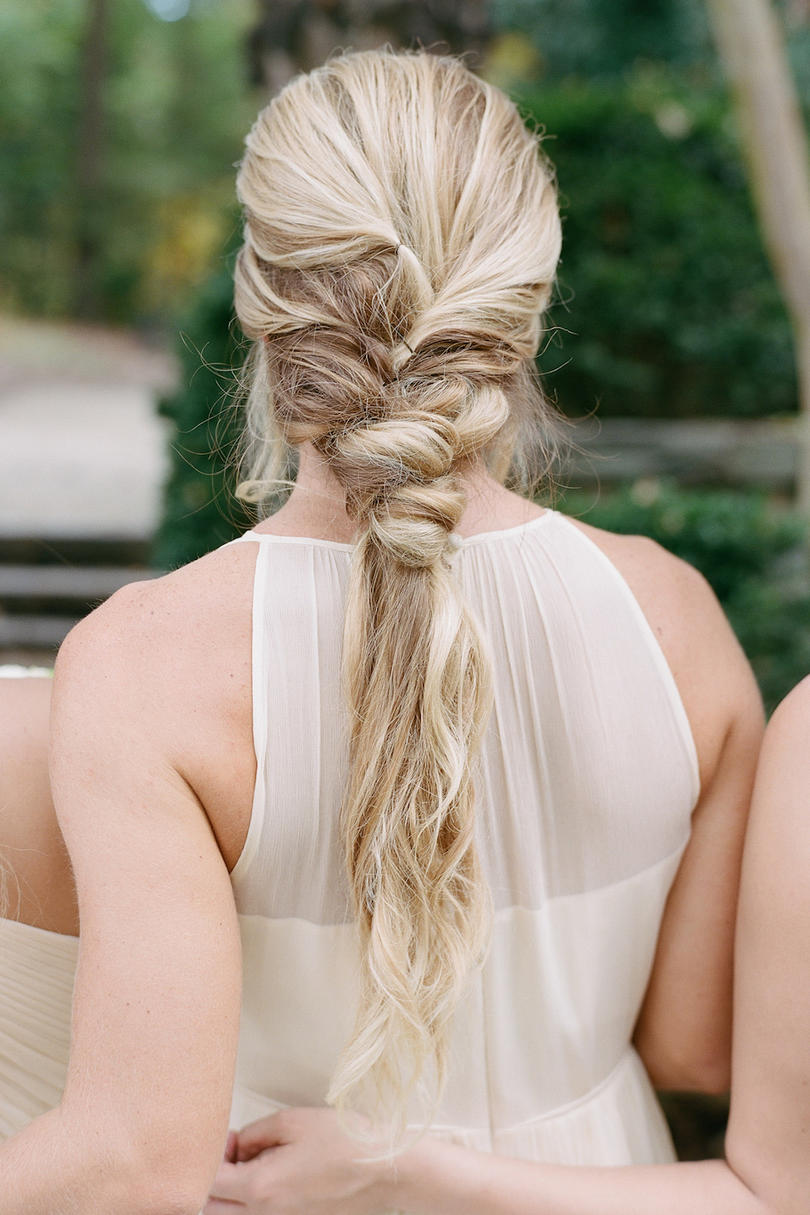 Wispy Bridesmaid Hairstyle Ponytail
