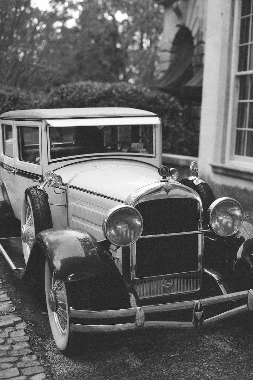 Vintage Wedding Getaway Car