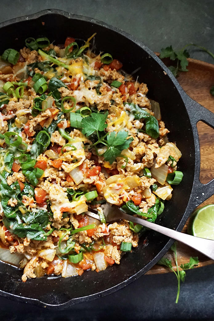 One Pot Turkey Taco Skillet