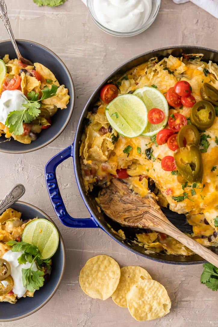 Super Easy Chicken Nacho Casserole