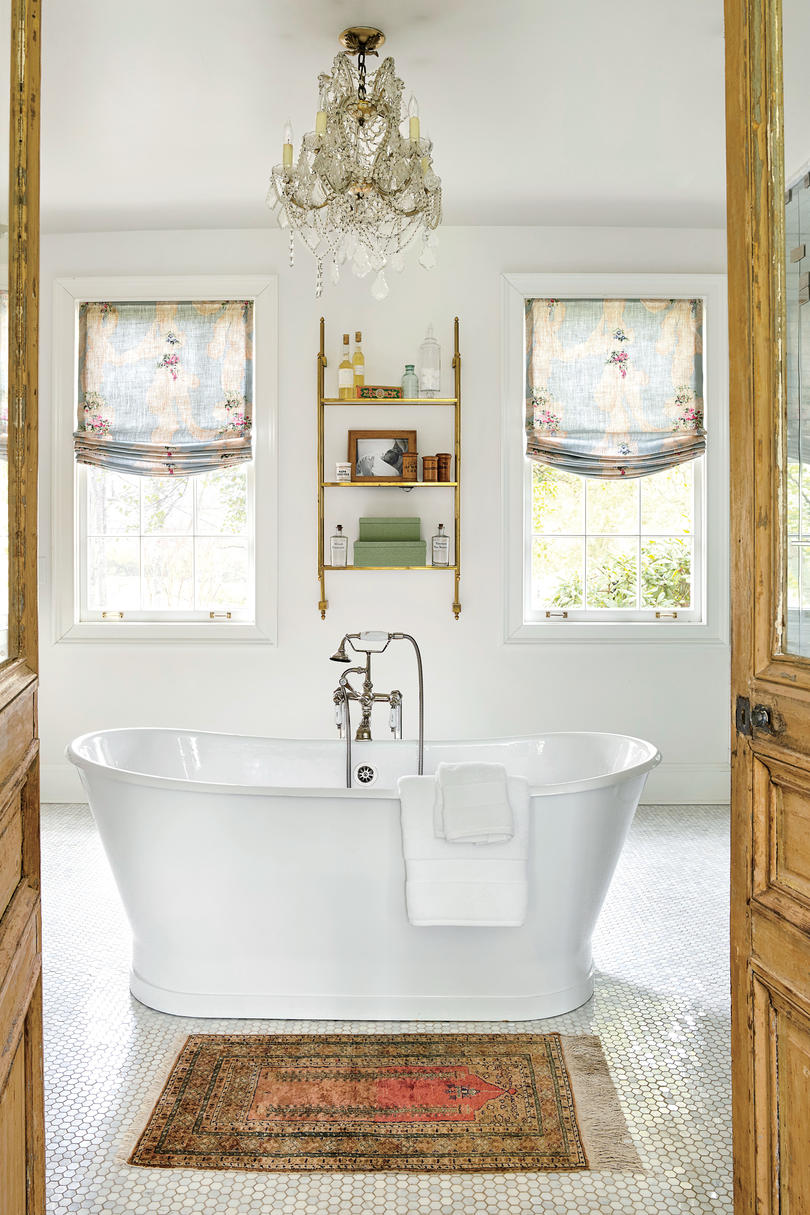 Holly Williams Colonial Revival Remodel in Nashville, TN Master Bathroom with Soaker Tub