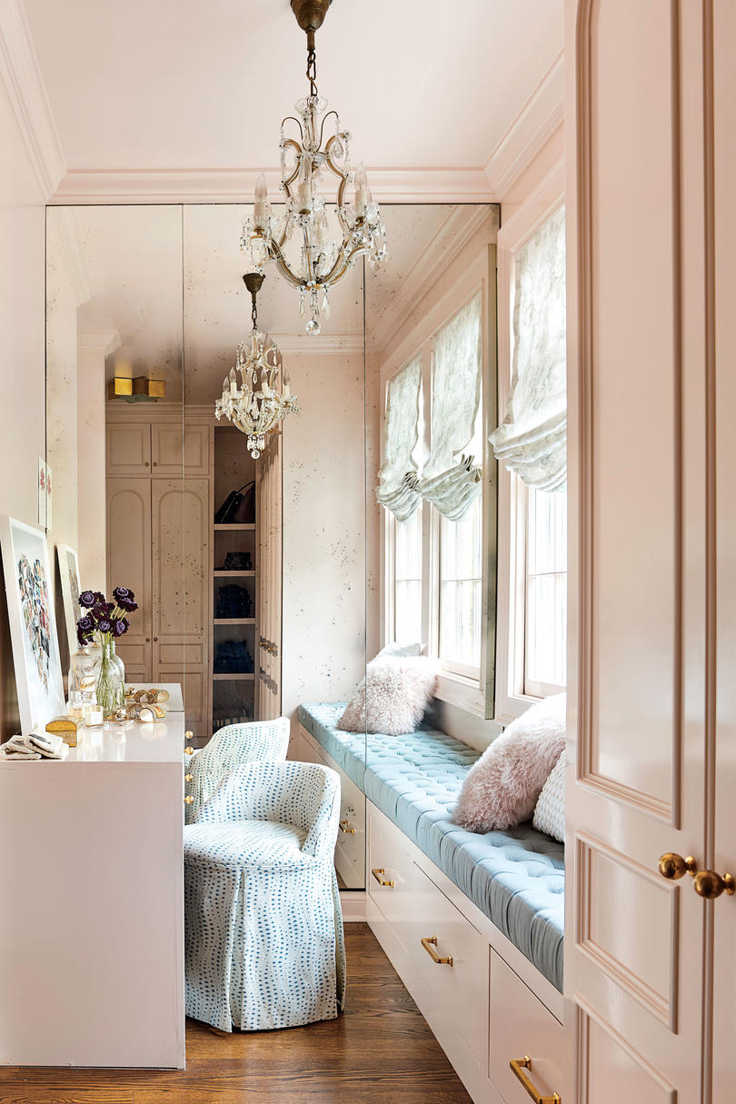 Holly Williams Colonial Revival Remodel in Nashville, TN Pink Dressing Room Closet