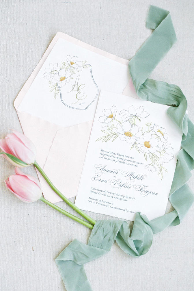 illustrated wedding invitations that ll leave you in awe southern