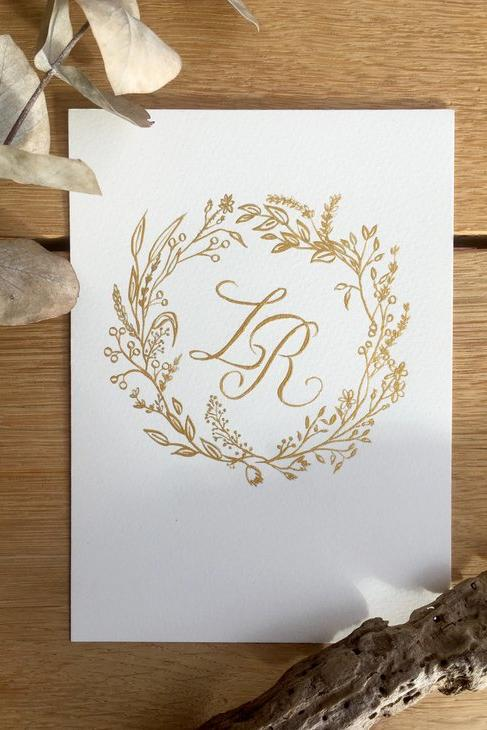 Good-Looking Gold Wedding Monogram