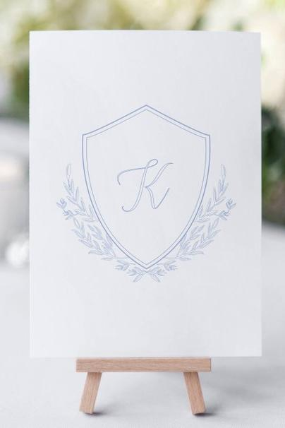 Understated Initial Wedding Monogram