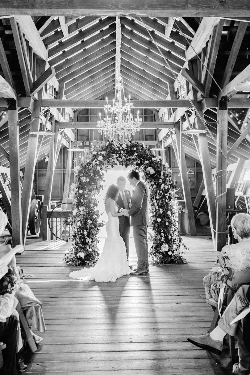 Rustic Wedding Ceremony in the Stables