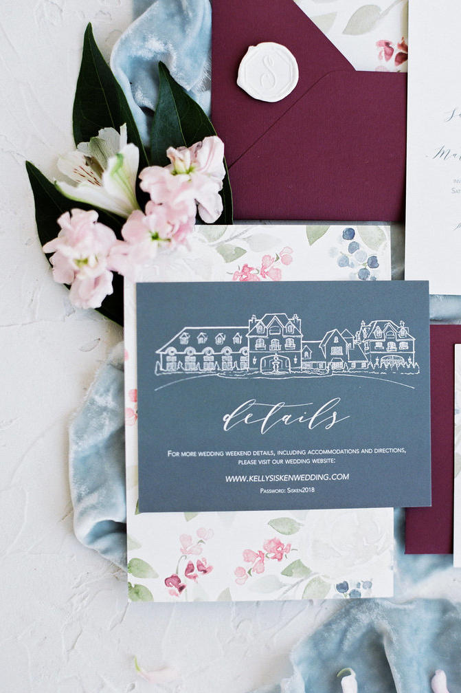 Illustrated wedding invitations thatll leave you in awe southern wedding invitation suite venue illustration stopboris Choice Image