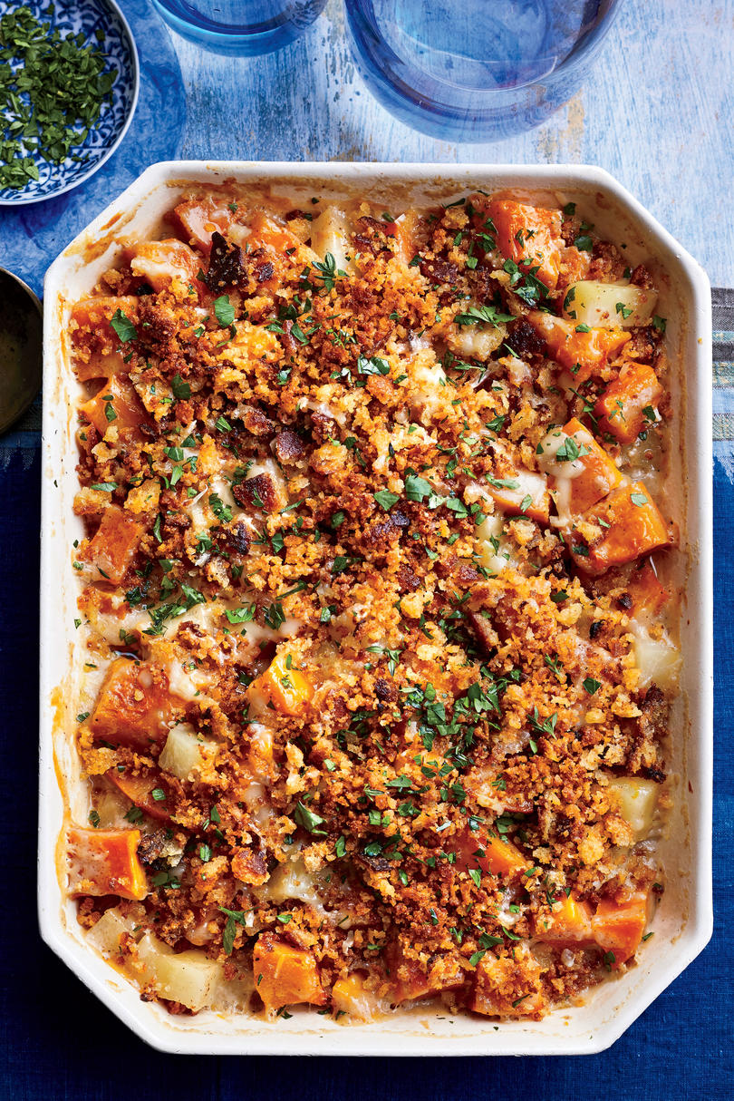 Pumpkin-and-Winter Squash Gratin