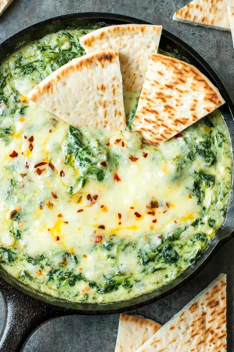Cheesy Baked Shrimp and Spinach Dip