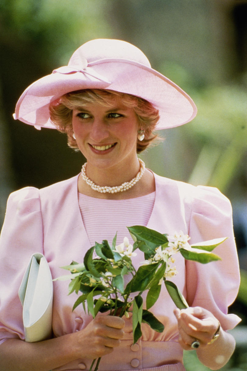 Princess Diana in a Pink Hat
