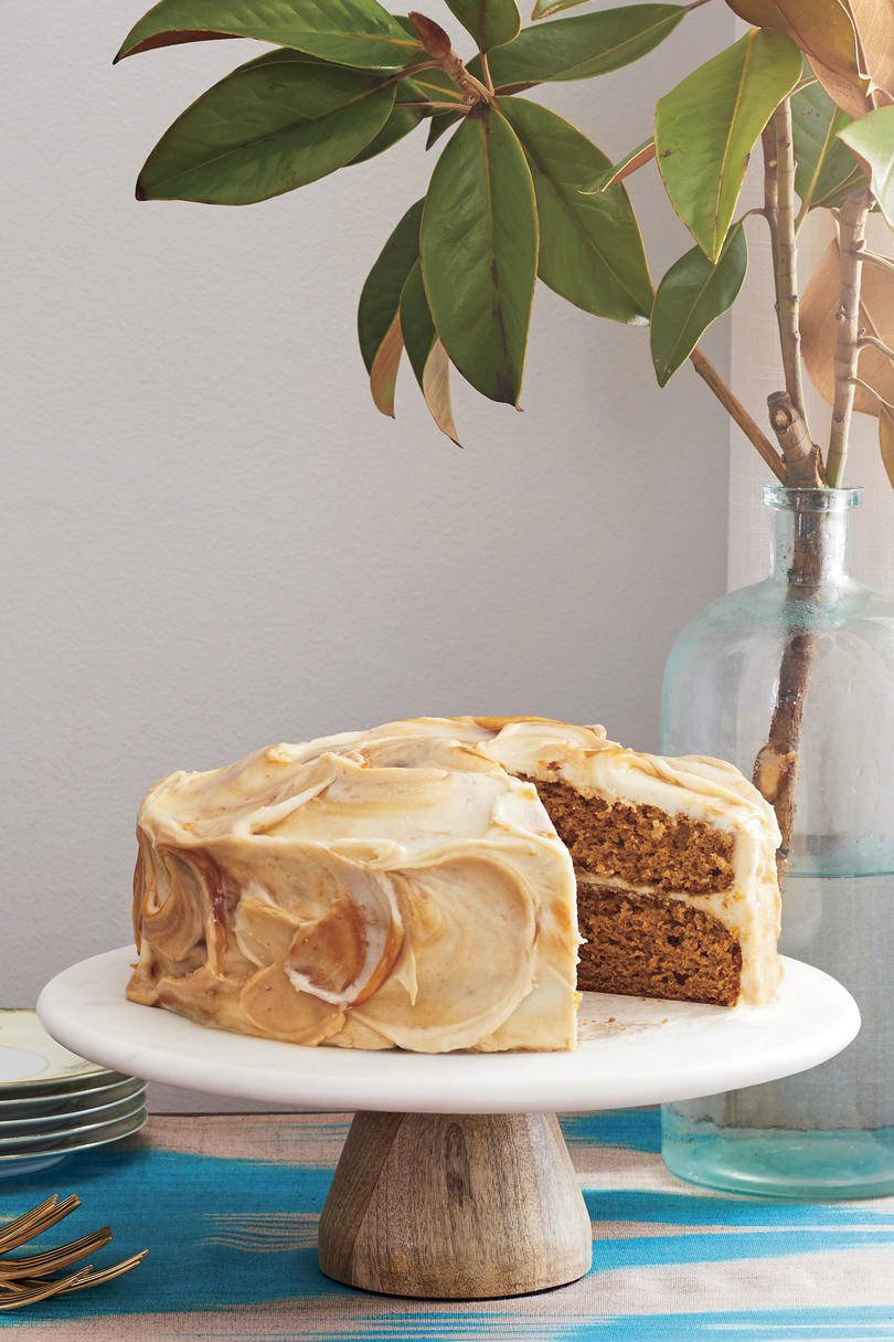 Pumpkin Layer Cake with Caramel-Cream Cheese Frosting